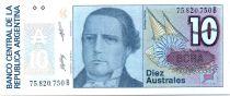 Argentina 10 Australes S. Derqui - Liberty - 1985/89 - Serial B