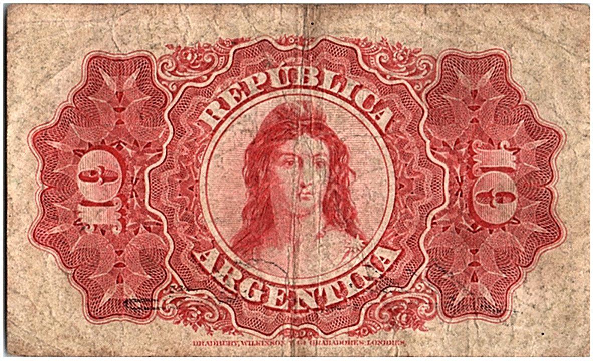 Argentina 10 Centavos, Domingo Sarmiento - 1895 - Fine  - P.228