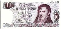 Argentina 10 Pesos, General Belgrano - 1970