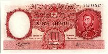 Argentina 10 Pesos, José de San Martin - 19(54-63)
