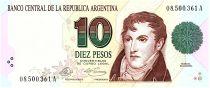 Argentina 10 Pesos, Manuel Belgrano - 1992