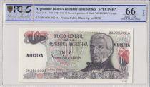 Argentina 10 Pesos Argentinos , G San Martin  - 1983 - Spécimen - PCGS 66 OPQ