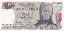 Argentina 10 Pesos argentinos ND1983 - J. San Martin - Iguaçu
