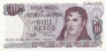 Argentina 10 Pesos Arthur Maury - Serial D - 1973/1976