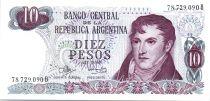 Argentina 10 Pesos Gral. Manuel  Belgrano - Serial B - 1973/1976