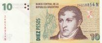 Argentina 10 Pesos ND1998-2003 - J. San Martin - Hot springs at Jujuy