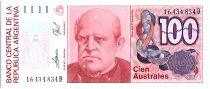 Argentina 100 Austales, Domingo F Sarmento - 1990