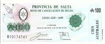 Argentina 100 australes , Province of Salta - 1991