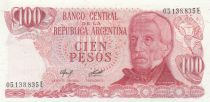 Argentina 100 Peso, J. San Martin - Costline at Ushuaia J. San Martin - Costline at Ushuaia - 1978