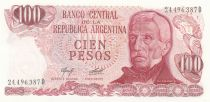 Argentina 100 Pesos, J. San Martin - Costline at Ushuaia J. San Martin - Costline at Ushuaia - 1976