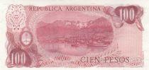Argentina 100 Pesos, J. San Martin - Costline at Ushuaia J. San Martin - Costline at Ushuaia - 1978