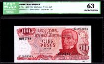 Argentina 100 Pesos J. San Martin - Costline at Ushuaia - 1972 - ICG UNC63