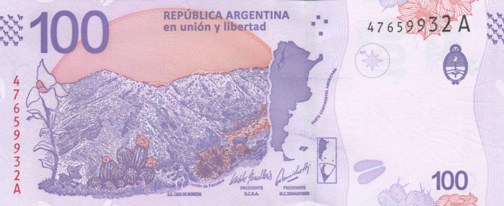 Argentina 100 Pesos Taruca - Serial C 2018