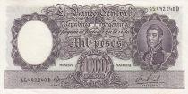 Argentina 1000 Pesos, José de San Martin - 1966