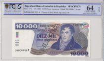 Argentina 10000 Pesos Argentinos  - 1985 - Specimen - PCGS 64 OPQ