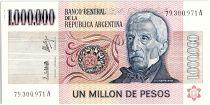Argentina 1000000 Pesos, Général San Martin - 1981