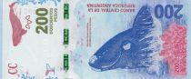 Argentina 200 Pesos - Whale - 2018 serial F
