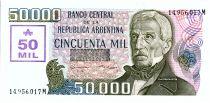 Argentina 50 000 Austales, Général San Martin - 1989