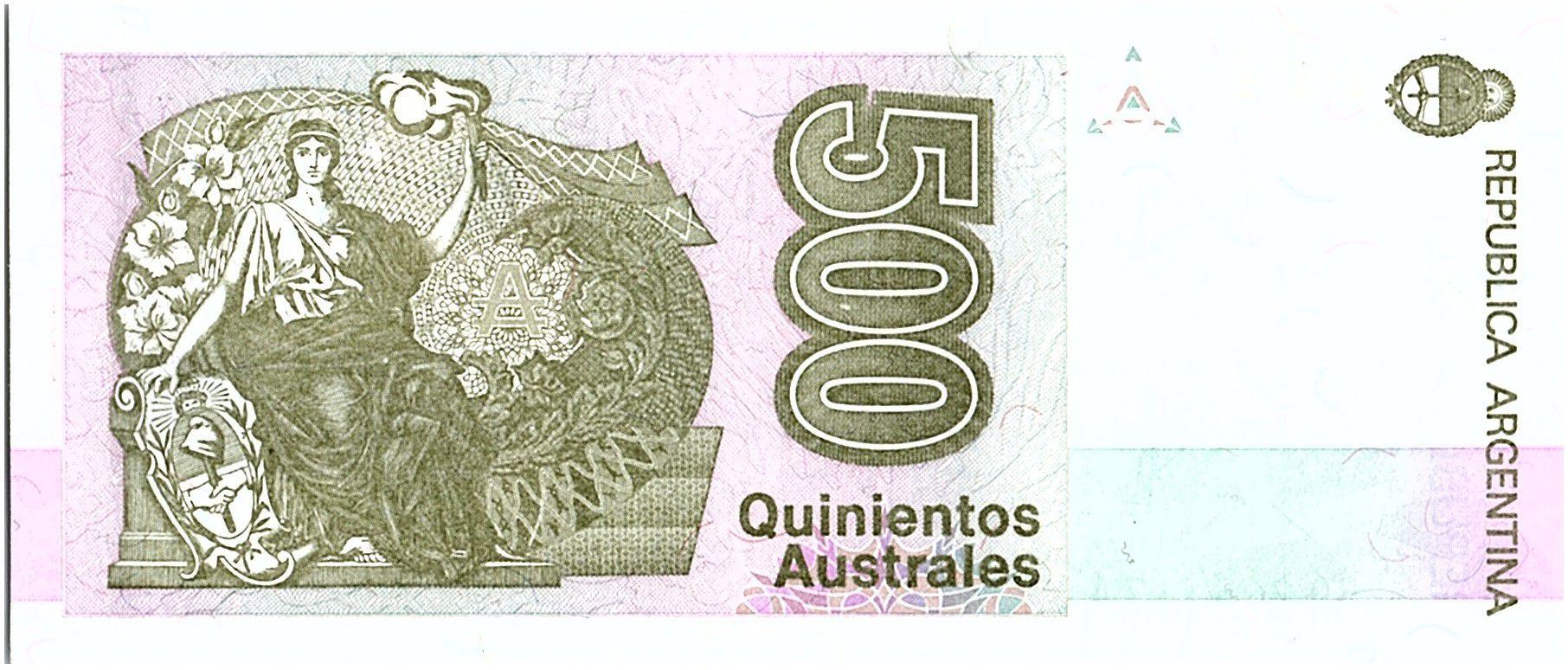 Argentina 500 Austales, Nicolas  Avellanedas - 1990