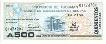 Argentina 500 Australes , Province of Tucuman - 1991