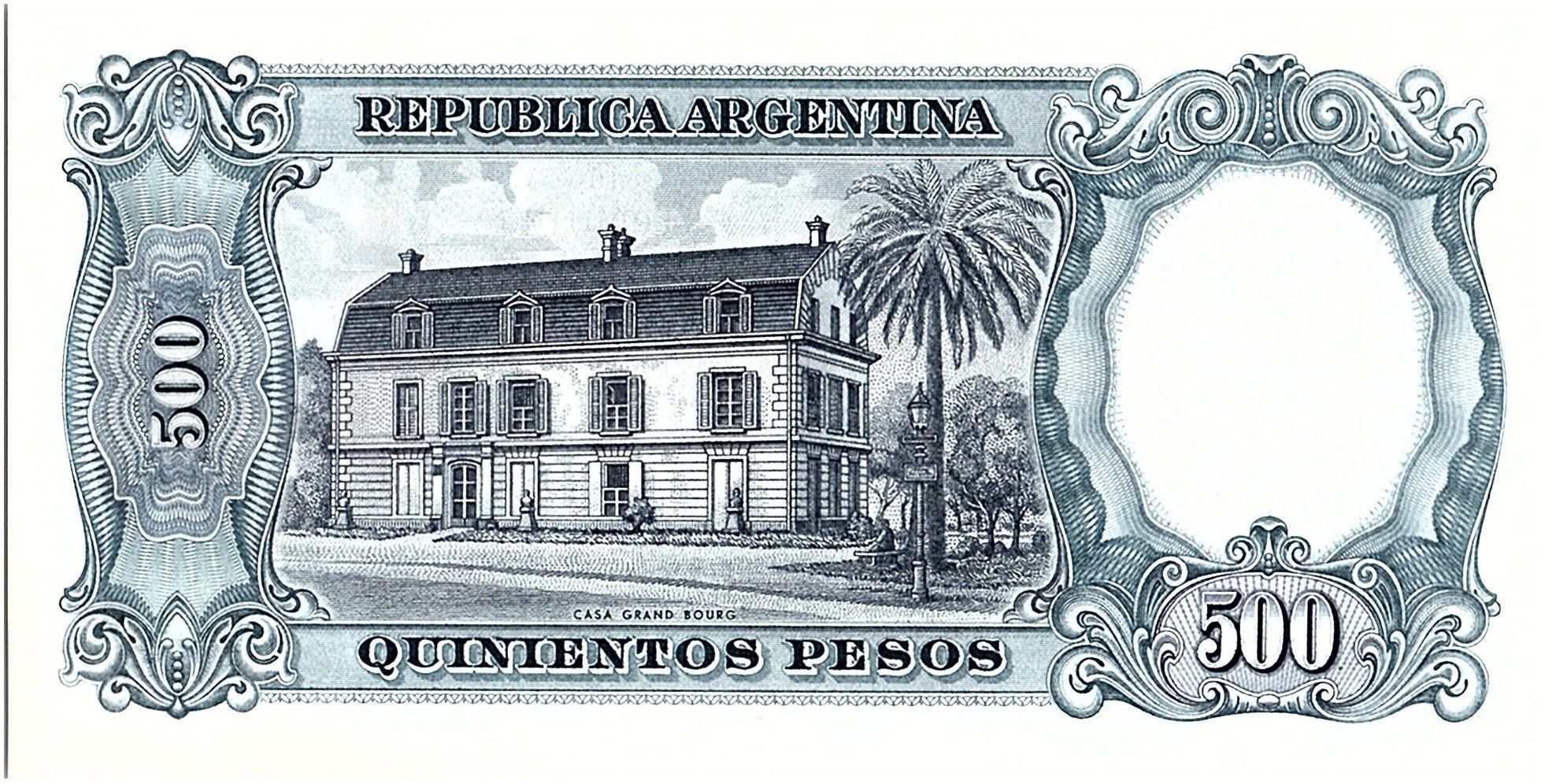 Argentina 500 Pesos, José de San Martin - 19(64-69)