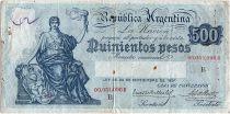 Argentina 500 Pesos, Liberty - 1929 -1930  - aVF - P.248 b scarse