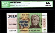 Argentina 500000 Pesos J. San Martin - Founding of Buenos Aires - 1980 - ICG UNC66