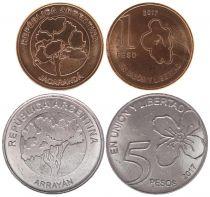 Argentina Set 1 and 5 Pesos 2017  Union y Libertad