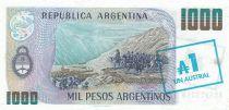 Argentine 1 Austral / 1000 Pesos argentinos ND1985 - J. San Martin - El paso de los Andes