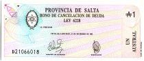 Argentine 1 austral , Province de Salta - 1987