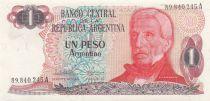 Argentine 1 Peso Argentino Argentino, J. San Martin - 1983