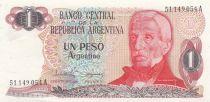 Argentine 1 Peso Argentino Argentino, J. San Martin - A - 1983