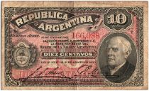 Argentine 10 Centavos, Domingo Sarmiento - 1895 - TB - P.228