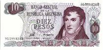 Argentine 10 Pesos, Général Belgrano - 1976