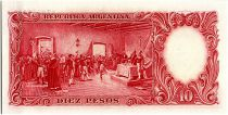 Argentine 10 Pesos, José de San Martin - 19(42-54)