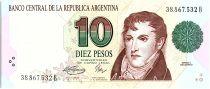 Argentine 10 Pesos, Manuel Belgrano - 1993