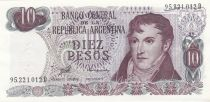 Argentine 10 Pesos Arthur Maury - Série D - 1973/1976