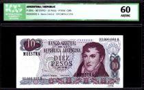 Argentine 10 Pesos M. Belgrano - Chutes d\'Iguazu - 1970 - ICG AU/UNC60