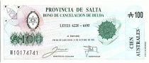 Argentine 100 australes , Province de Salta - 1991