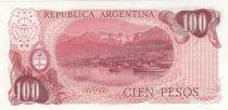 Argentine 100 Pesos, J. San Martin - Ushuaia J. San Martin - Port d´Ushuaia - 1978