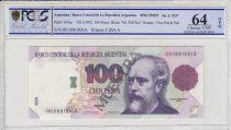 Argentine 100 pesos, M. Argentino Roca  - 1992 - Spécimen - PCGS 64OPQ