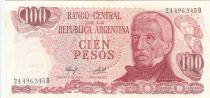 Argentine 100 Pesos ND1976 - J. San Martin - Place de Mai