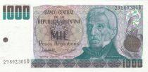 Argentine 1000 Peso Argentino Argentino, J. San Martin - El Paso de los Andes - 1984
