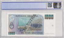 Argentine 1000 Pesos Argentinos , G San Martin  - 1983 - Spécimen - PCGS 63 OPQ