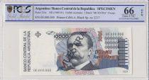 Argentine 10000 Australes , C Pellegrini  - 1989 - Spécimen - PCGS 66 OPQ