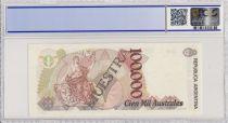 Argentine 100000 Australes , J Evaristo Uriburu  - 1990 - Spécimen - PCGS 66 OPQ