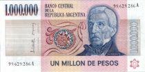 Argentine 1000000 Pesos J. San Martin - Déclar. indépendance - 1981