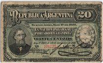 Argentine 20 Centavos, Bartolomé Mitré - 1892 - TB - P.215