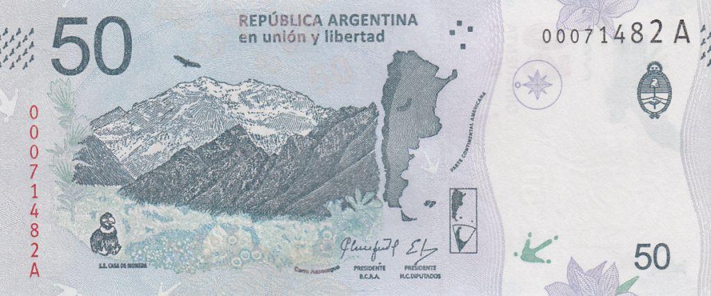 Argentine 20 Pesos Condor -  Montagne - 2018 (format vertical)