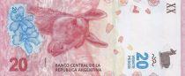 Argentine 20 Pesos Lama - 2017 (format vertical)